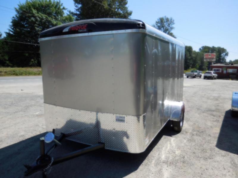 2018 Mirage 7x12 Single Axle Enclosed Cargo Trailer - Ramp