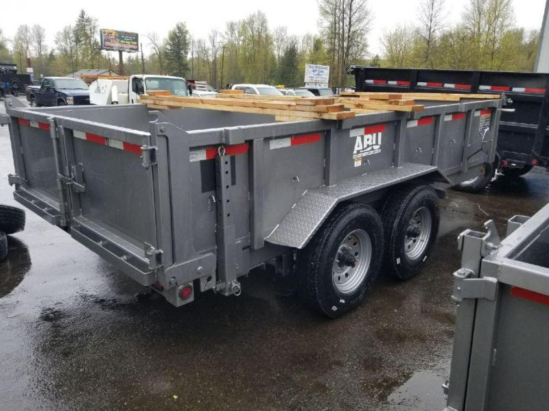 2019 ABU 7x14 Dump Trailer- Tarp Kit - Ramps - 65 Degree Angle Dump!!