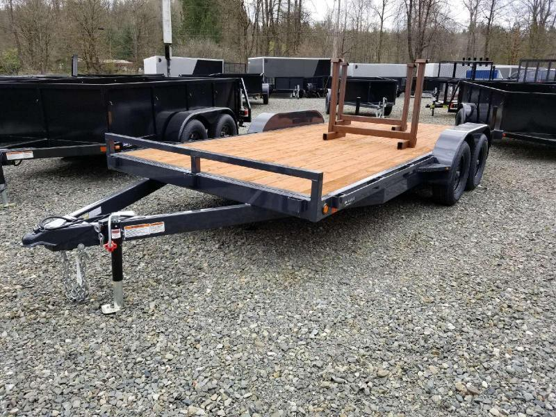 2018 Iron Eagle 7x16 7K Series Flatbed Trailer - Ramps Included