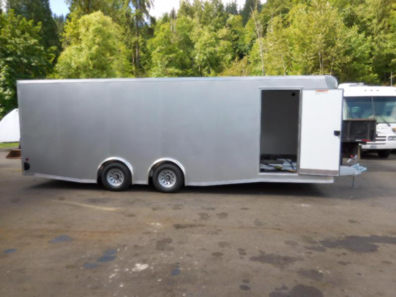 Custom 2018 EZ Hauler 8x24 10K Torsion Spread Axle Enclosed Car Hauler Cargo Trailer **SOLD!!**