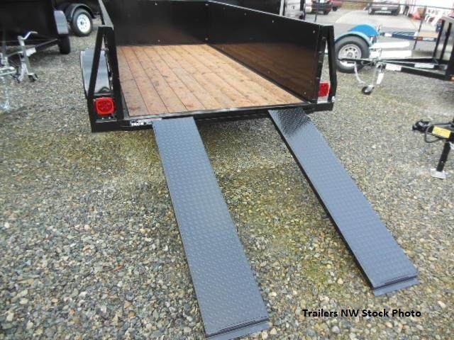 2018 Iron Eagle Voyager Series 5x8 Utility Trailer - Split Ramp  Tailgate