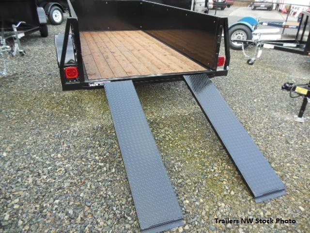 2018 Iron Eagle Voyager Series 5x8 Utility Trailer - Split Ramp  Tailgate
