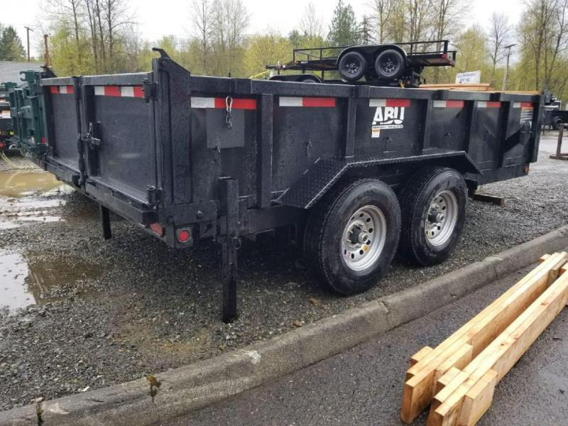 2019 ABU 7x14 14K Industrial Dump Trailer - 65 Degree Angle! Ramp Kit - Combo Tailgate