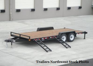 2018 Iron Eagle 7x20 14K Series Flatbed Equipment Trailer