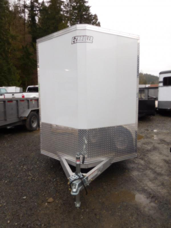 2018 EZ Hauler 6x12 All Aluminum Enclosed Cargo Trailer - Rear Ramp