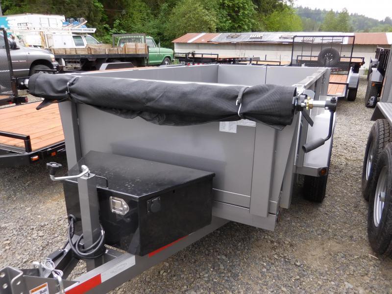 2019 ABU 5x10 Tandem Axle Scissor Lift 7K Dump Trailer