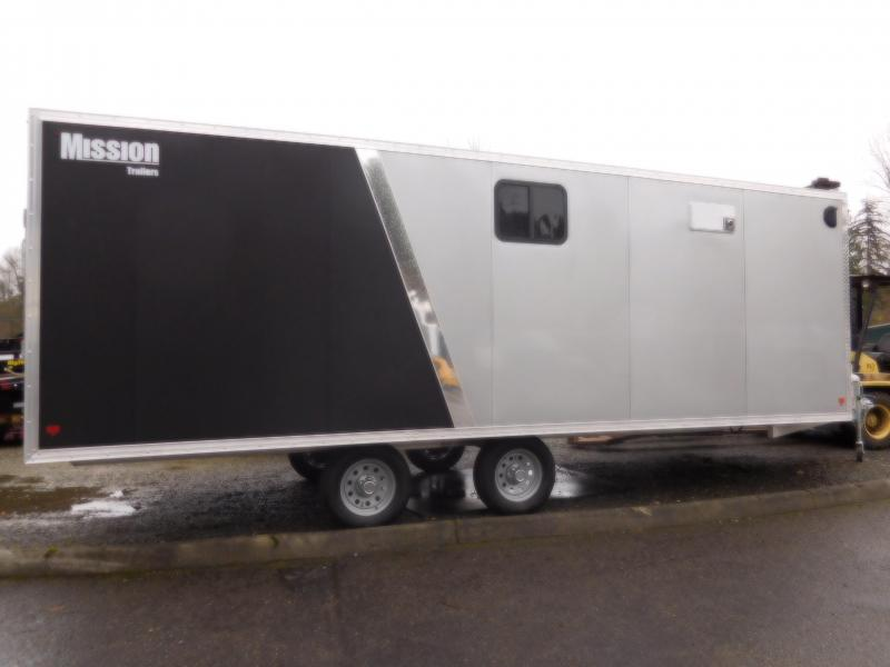 2018 Mission 22' Enclosed Snowmobile Trailer