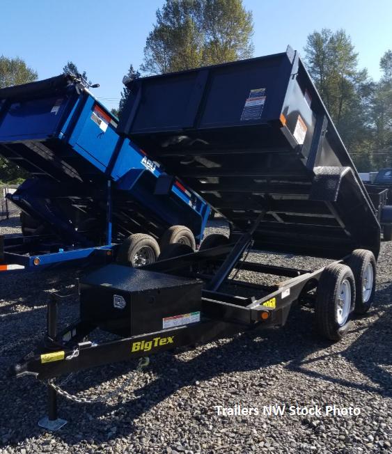 2018 Big Tex Trailers 70SR 6x10 Single Ram Dump Trailer