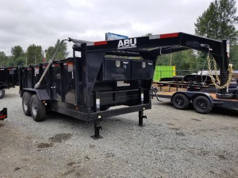 Pre-Owned 2019 ABU 82x14 Gooseneck 16K Industrial Dump Trailer