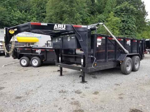 Pre-Owned 2019 ABU 82x14 Gooseneck 16K Industrial Dump Trailer