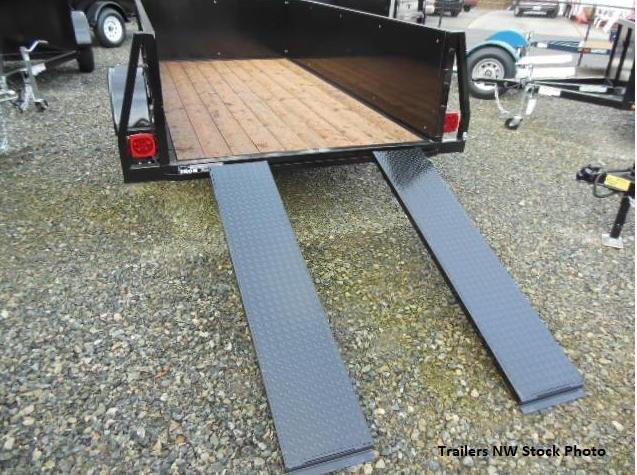 Custom 2018 Iron Eagle 5x12 Voyager Series Utility Trailer  - Split Ramp Tailgate