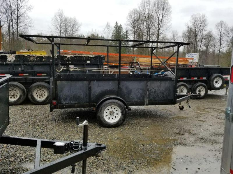 Used 2011 Iron Eagle 5x10 Voyager Series Utility Trailer with Combo Split Ramp Gate