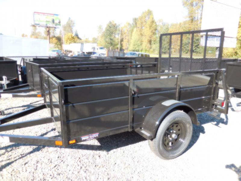 2019 Iron Eagle 5x8 Magnum Series Utility Trailer with Landscape Ramp