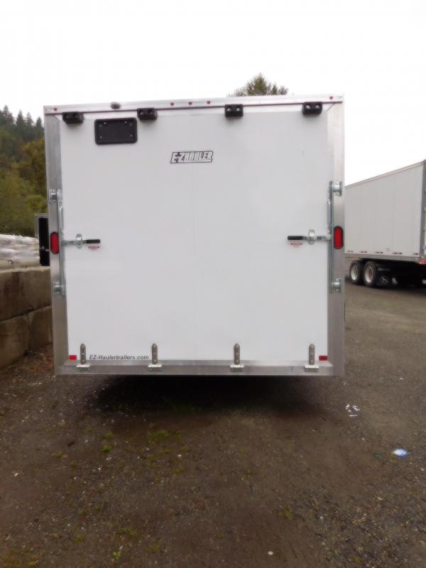 2019 EZ Hauler 8x28 All-Aluminum Enclosed Cargo Car Hauler Trailer