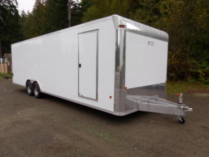 2019 EZ Hauler 8x28 All-Aluminum Enclosed Cargo Car Hauler Trailer