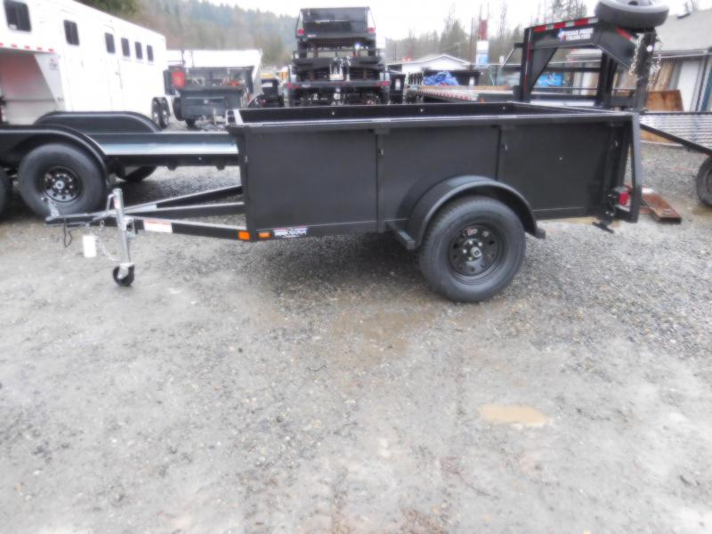 2018 Iron Eagle Voyager 5x8 Utility Trailer with Split Gate Combo
