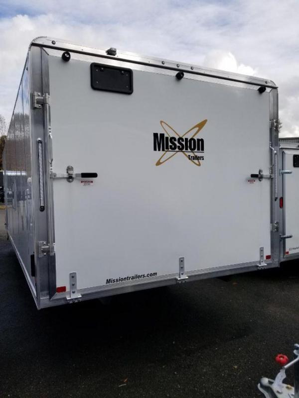 2019 Mission MES 101x22 V-Nose Snowmobile Trailer