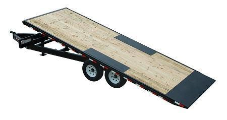 2019 PJ Trailers T8 22' Deckover Tilt Equipment Trailer