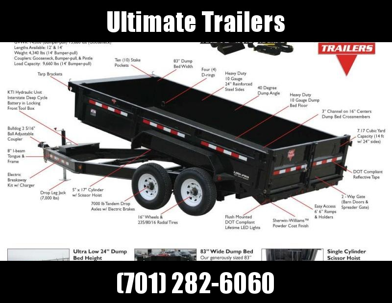 2019 PJ Trailers 83 Wide Dump - DL Series Dump Trailer
