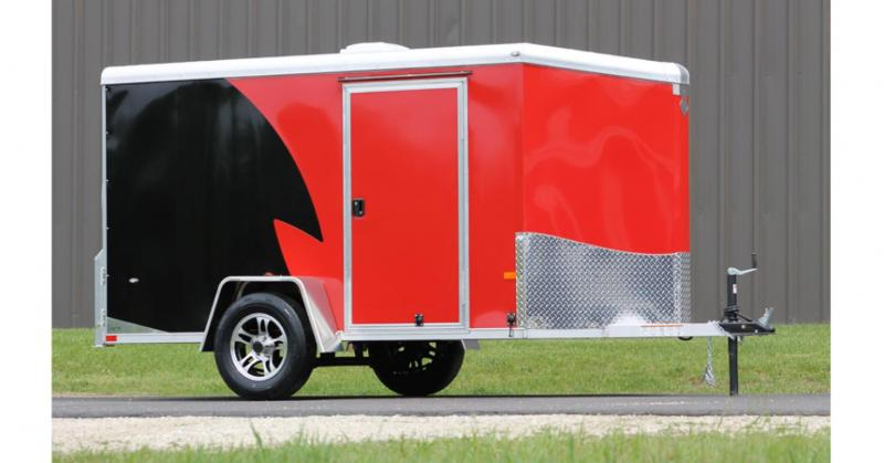 2019 NEO Trailers NAMR Round Top Slant Nose Motorcycle Trailer
