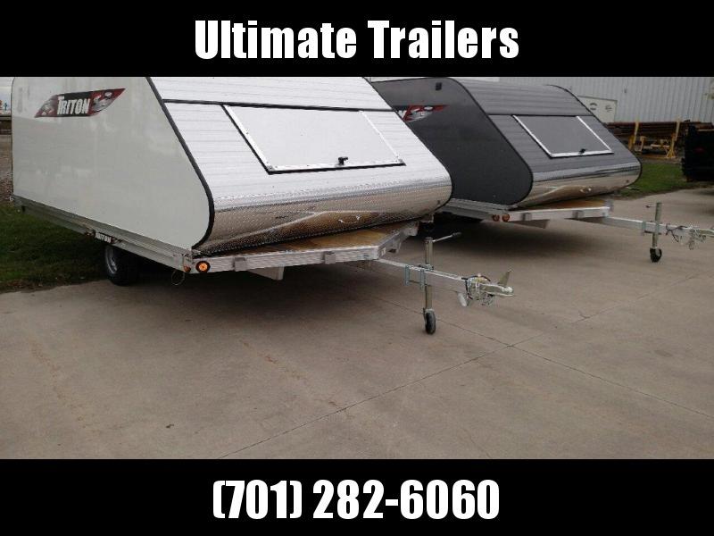 2018 Triton 8.5x12 Aluminum Triton Snowmobile Trailer w/cap