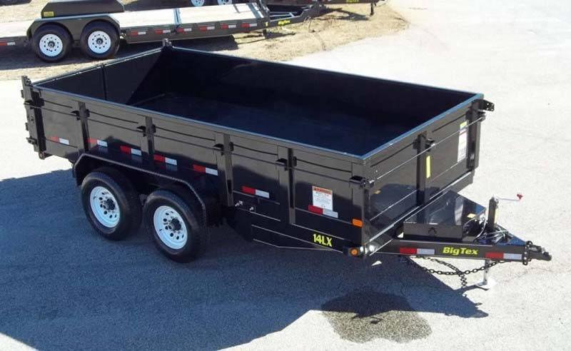 2017 Big Tex Trailers 14ft Low Profile Extra Wide 14k Dump