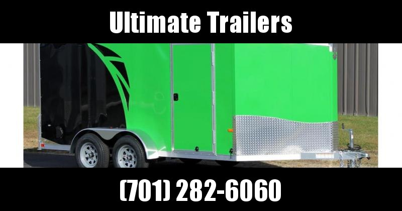 2019 NEO Trailers NAMF Flat Top Slant Nose Motorcycle Trailer