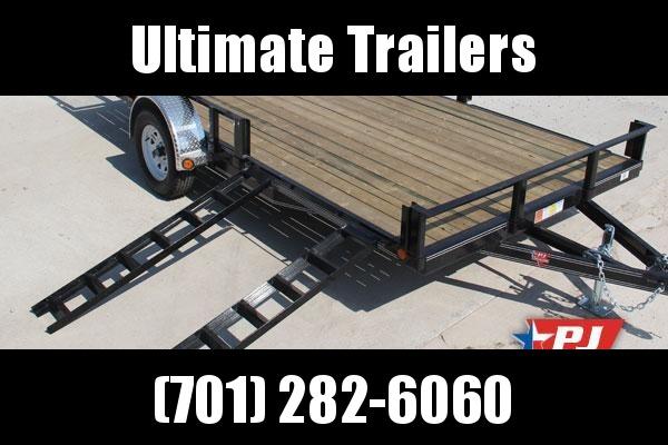 2019 PJ Trailers U821431DSBKAT Utility Trailer