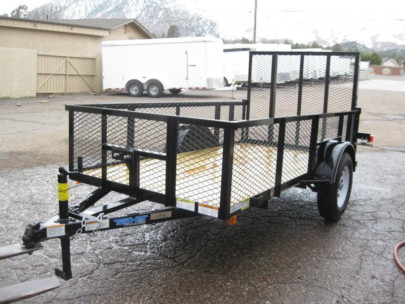 77X10 Lanscaper Utility Trailer with 2' Expanded Metal Sides