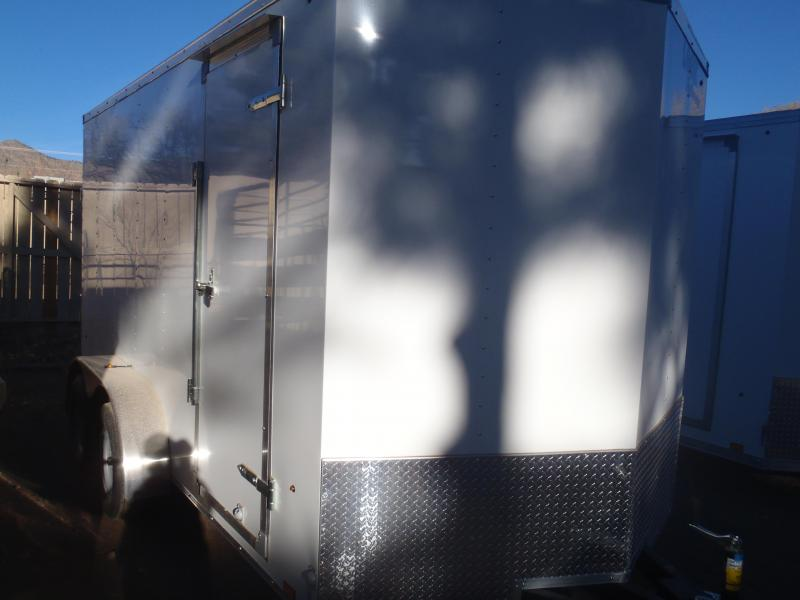 7X14 Cargo Enclosed Rear Ramp 7' Tall