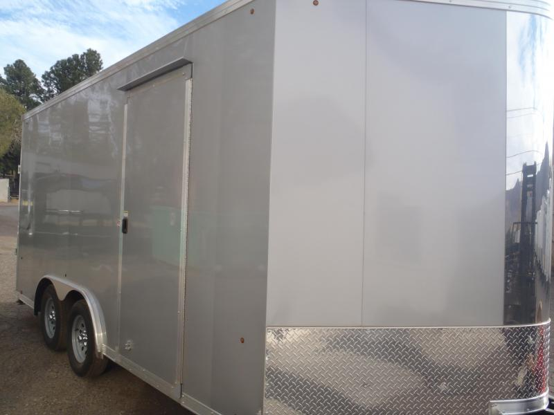 2018 8.5X16 7' Tall Look Trailers Vision Cargo / Enclosed Trailer