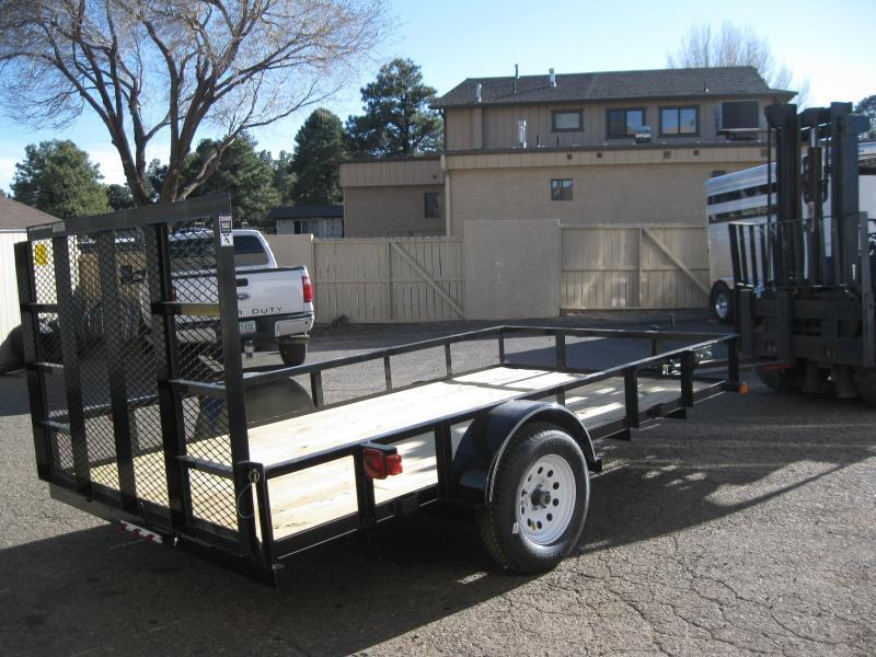 77X10 Angle Rail Utility Trailer with ramp gate