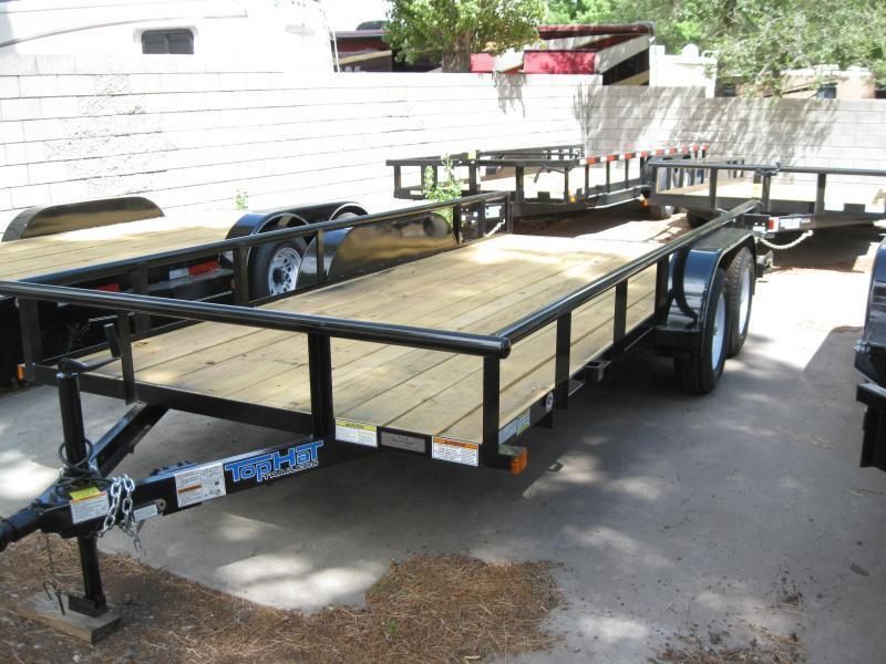 83X16 Utility Trailer with LED Lights Pipe Rail and Ramps