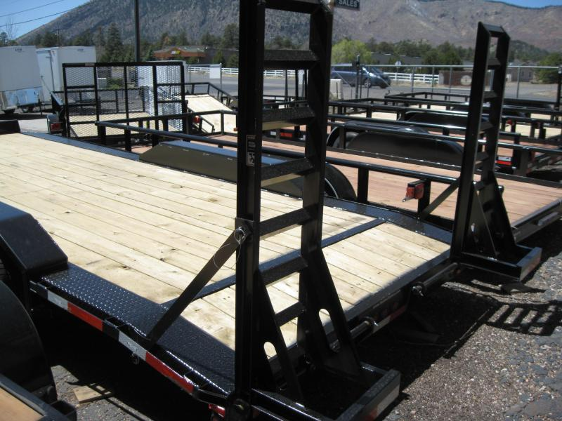102 X 20 Equipment Hauler with Drive over fenders and 5' fold-up ramps