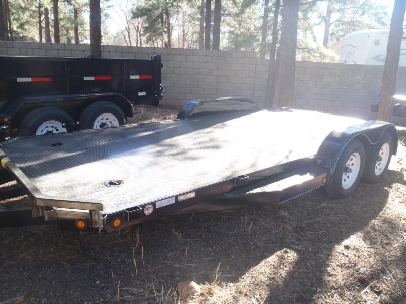 83 X 18 Carhauler / Racing Trailer STEEL DECK 7000# GVW