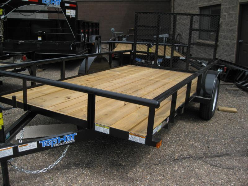 77X12 Pipe Rail Utility Trailer LED Lights