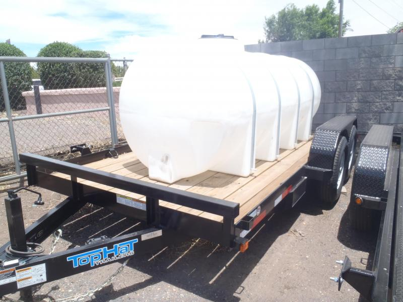81X14 14K Equipment Trailer with 1025 Gallon water Tank