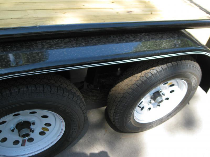 83X16 Utility Trailer  Pipe Rail and Ramps Flush Mounted LED Lights