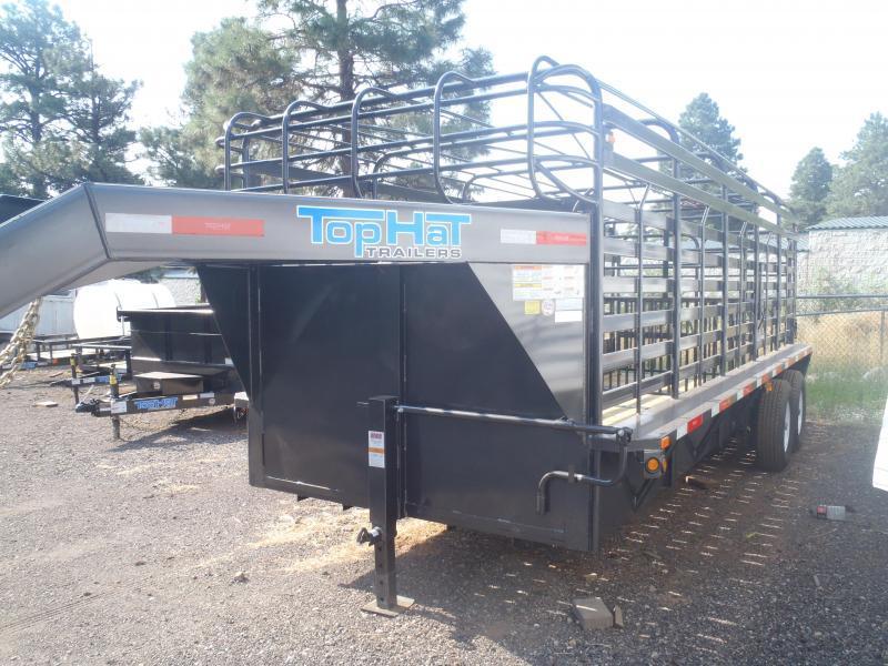 6.8X24 Gooseneck Stock Brahma Livestock Trailer in Ashburn, VA