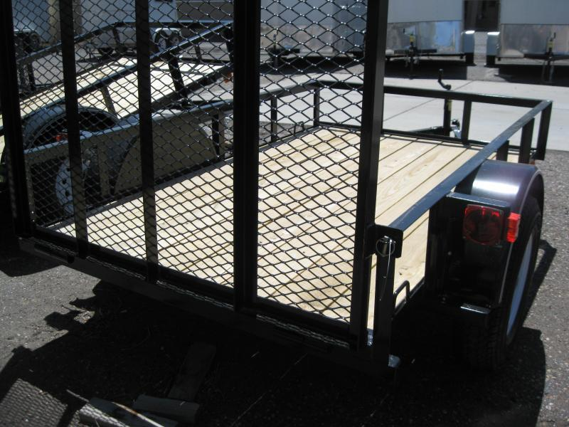 6X12 Utility Trailer Angle Rail and Ramp Gate