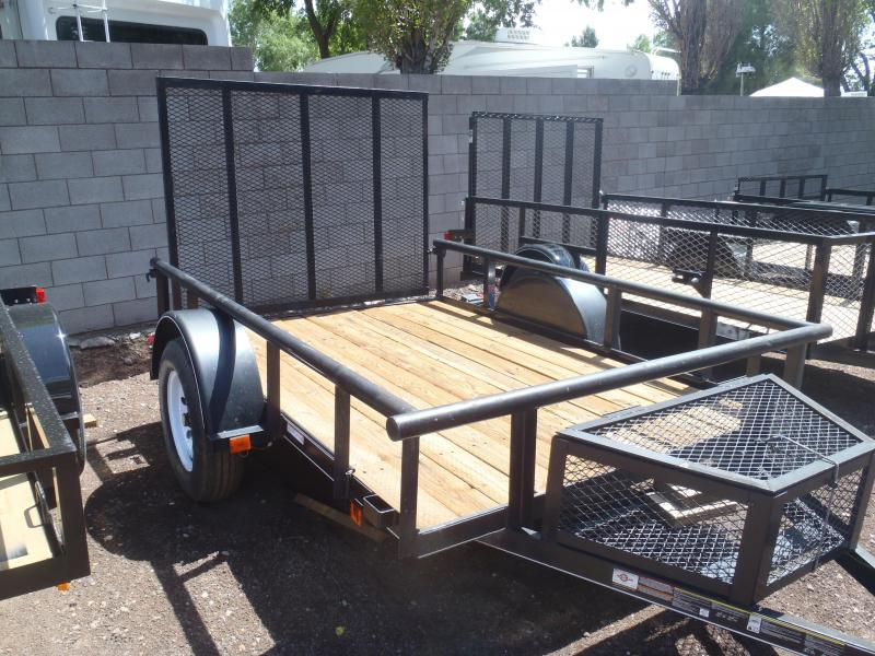 5.5X8 Utility Trailer Angle Rail and Ramp Gate