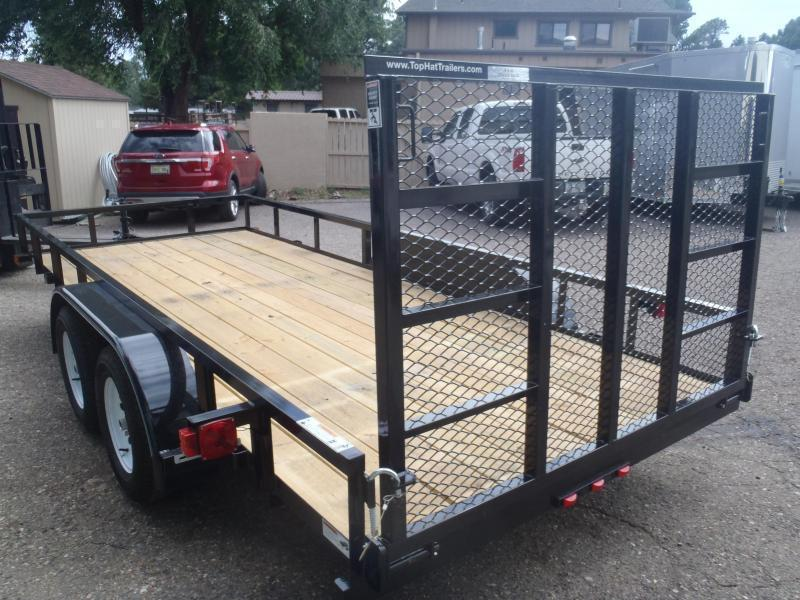 83X14 Angle top Rail with Ramp Gate Utility Trailer