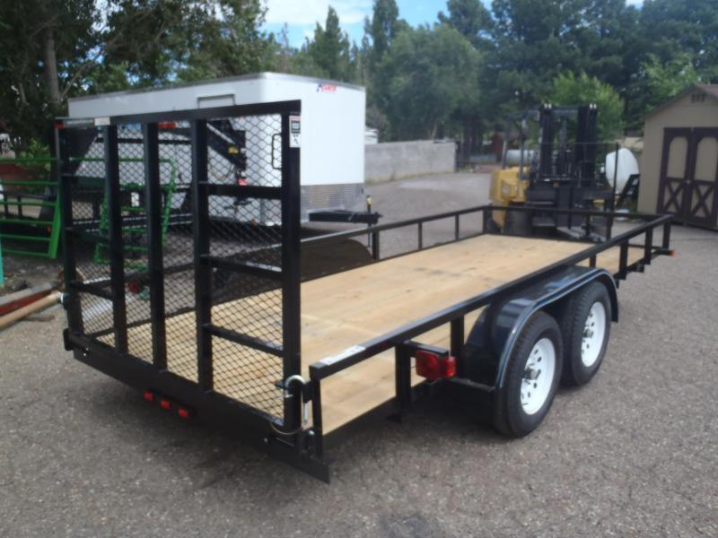 83X16 Angle top Rail with Ramp Gate Utility Trailer