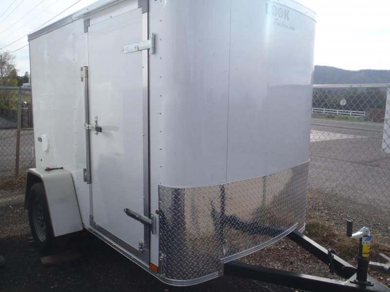 5x8 OB Enclosed Trailer Side Door and Ramp Door