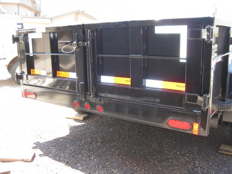 6.5X10 Dump Trailer 2' sides 10000# GVW ramps