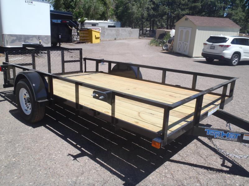 77X12 Angle Rail Utility Trailer with 2' Ramp Gate