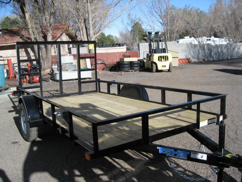 77X12 Angle Rail Utility Trailer with ramp gate