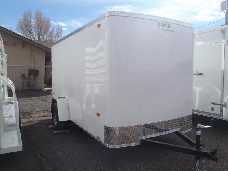 6x12 ST Enclosed Trailer Barn Doors NO SIDE DOOR