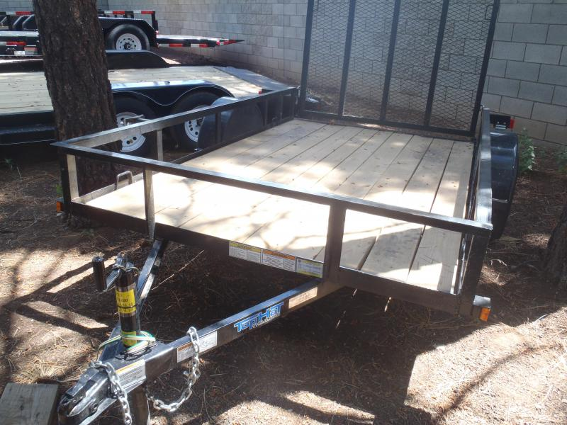 6X10 Utility Trailer Angle Rail and Ramp Gate