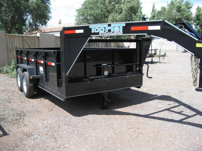 7' X 16' 14000 lb G.V.W. Gooseneck Dump Trailer
